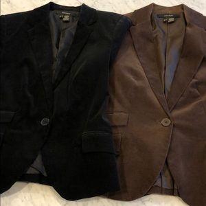 Bundle: Two Zara Corduroy Blazers